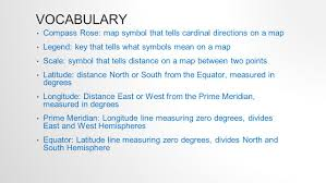 what is a map legend vocabulary compass map symbol that tells cardinal directions