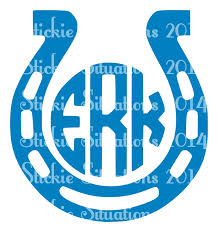 monogram car decal horseshoe monogram car decal stickie situations online store