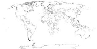 outline of world map world map black and white outline blank images with solid