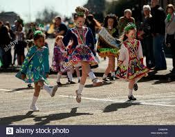 st patrick u0027s day parade through birmingham uk with traditional
