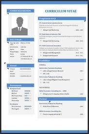 form daftar riwayat hidup pdf download contoh cv atau daftar riwayat hidup terbaik file word