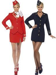 Flight Attendant Halloween Costumes Air Hostess Stewardess Cabin Crew Ladies Virgin Style Fancy Dress