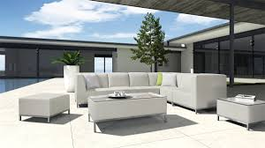 Contemporary Outdoor Sofa H70 Modern Patio Light Grey Sectional Sofa Set