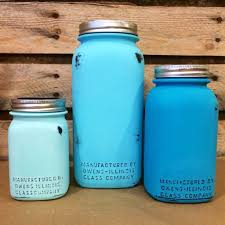 jar kitchen canister set vintage turquoise jars