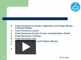 ppt u2013 power electronics converters applications and design