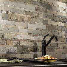 peel and stick tiles for kitchen backsplash aspect backsplash stone tile in medley slate stone tiles wall