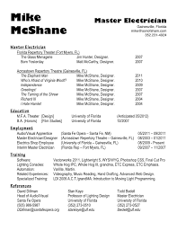 Sample Resume Electrician by Resume Master Electrician Resume