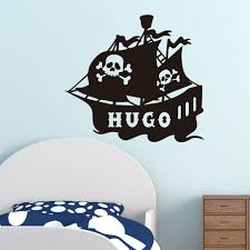 chambre pirate gar n n importe quel nom enfants chambre wall sticker bateau pirate