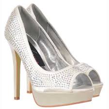 wedding shoes online onlineshoe ivory peep toe diamante stiletto platform