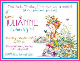 12 printed fancy nancy inspired personalized invitations 3 styles