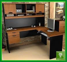 Black L Shaped Computer Desk Black L Shaped Computer Desk With Hutch Designs Ideas And Decors