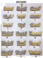 Gold Name Plated Necklace Double Name Plate Necklace Ebay