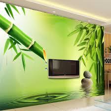 online get cheap 3d wall green bamboo aliexpress com alibaba group custom 3d photo wallpaper 3d stereoscopic green bamboo water drops background wall murals for living room