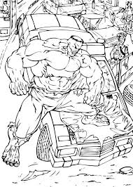 hulk stomps car coloring pages hellokids