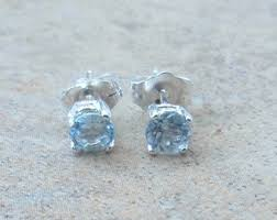 aquamarine stud earrings aquamarine stud earrings handmade wire wrapped sterling