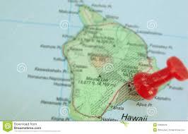 Map Of Hawaii Big Island Hawaiian Map Stock Images Image 34886504