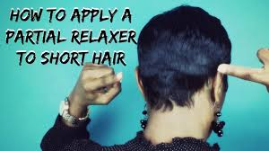 best relaxers for short black hair short hair tutorial how to apply a partial relaxer to short hair