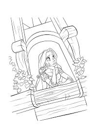 153 tangled colouring pages images disney