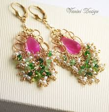 Peridot Chandelier Earrings 169 Best Vanini Design Images On Pinterest Wire Wrapping Wire