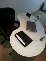 Kidney Bean Shaped Desk I Bought My Home Office Desk From Ikea I The Kidney Bean