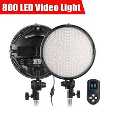 ring light for video camera tolifo 800 led video studio ring light w 2 4g remote dual color