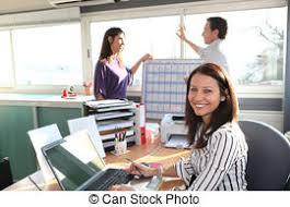 employé de bureau employé bureau employé fond blanc bureau photographie de stock