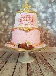 white and gold baby shower pink gold and white baby shower cake cakecentral