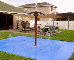 backyard splash pads and splash parks rain deck