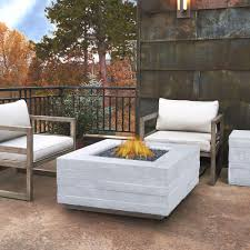 Propane Fireplace Outdoor Real Flame Board Form 37 In Fiber Concrete Square Propane Fire
