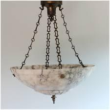 Antique Alabaster Chandelier Diy112 Vintage Carved Alabaster Bowl Light Hanging Ceiling