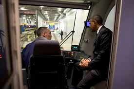 president obama lays out new plan for upgrading our transportation president barack obama sits in the cab and talks with a worker during a tour of