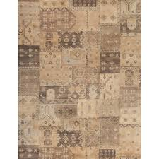Area Rug 7x10 Home Decorators Collection Barrett Patchwork Ivory 7 Ft X 10 Ft