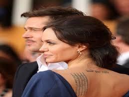10 angelina jolie and brad pitt tattoos