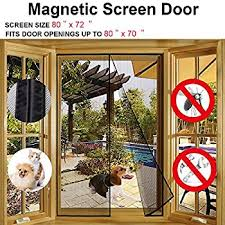 60x80 Patio Door Amazon Com Bug Off 72r By 80 Instant Screen Reversible Fits