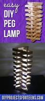 easy and awesome clothespin lamp diy projects for teens