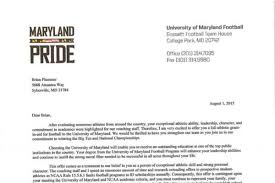 here u0027s what an official maryland football scholarship offer looks