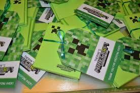 Minecraft Invitation Cards Minecraft Party Invitations