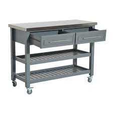 black kitchen island with stainless steel top aosom homcom country style kitchen island rustic rolling