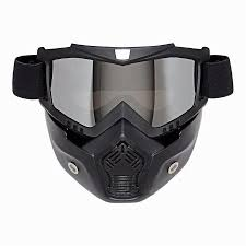 motocross helmet goggles motocross windproof helmet mask detachable goggles and mouth