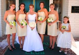 what color heels w champagne bridesmaid dress for our classy