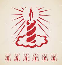 christmas candle vintage element royalty free cliparts vectors
