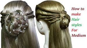 How To Make Hairstyles For Girls by How To Make Hairstyles For Medium Or Long Hair Easy Hairstyles