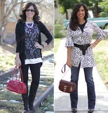 how to wear tunics or short dresses with pants