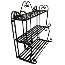 Wrought Iron Bathroom Accessories by Amazon Com Folding Scroll Triple Wall Shelf Floating Wall