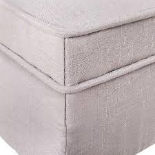 buy linen fabric storage ottoman at 2 mad sisters for only 135 95