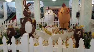 easter egg display the greenbrier s chocolate easter displays the