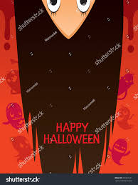 halloween ghost upside down head long stock vector 481521241