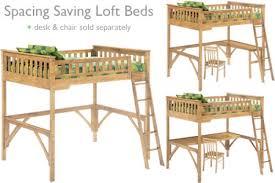 kids loft wood bunk bed full maple the futon shop
