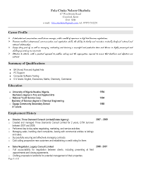 Career Profile Resume Examples Microsoft Office Resume Templates Free Resume For Your Job