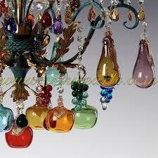 Glass Fruit Chandelier by Bacco Murano Glass Chandelier